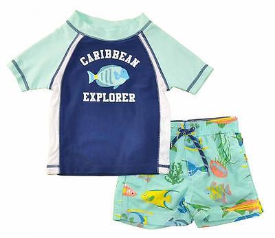 Kiko /& Max Infant Girls Turquoise Rashguard Swim Set Size 3//6M 6//9M 12M 18M 24M