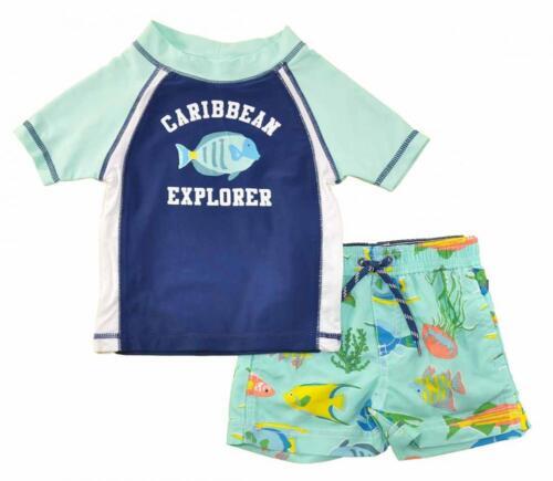 Carter/'s Infant Boys 2pc Rashguard Swim Short Set Size 3//6M 6//9M 12M 18M 24M $36