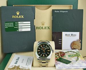 ROLEX-Mens-40mm-Stainless-Steel-MILGAUSS-Black-Index-Dial-116400-GV-SANT-BLANC