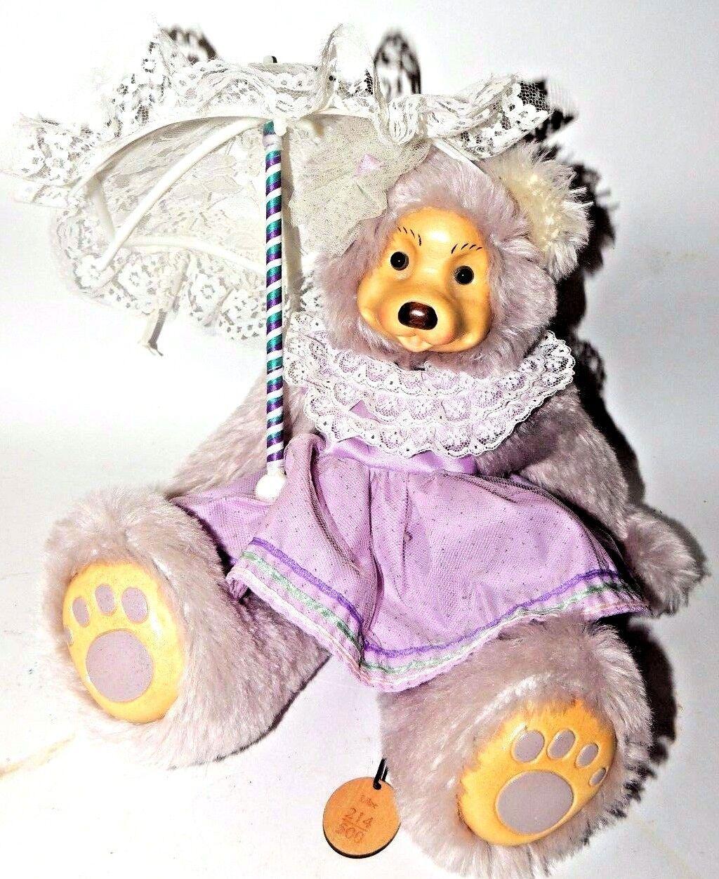 violac  13-inch Mohair Bear by Robert Raikes.