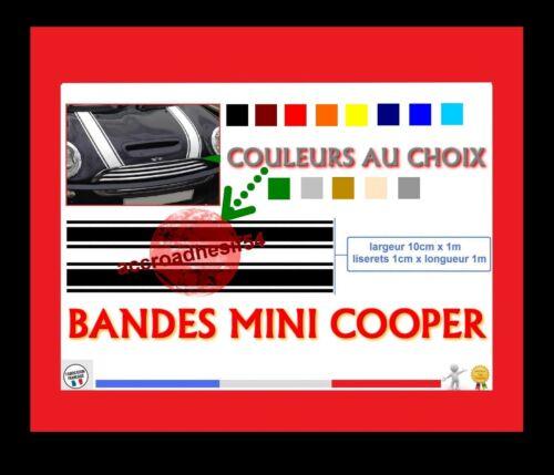 SET DE 2 BANDES LISERET STICKERS POUR MINI COOPER DECO AUTO STICKER AUTOCOLLANT