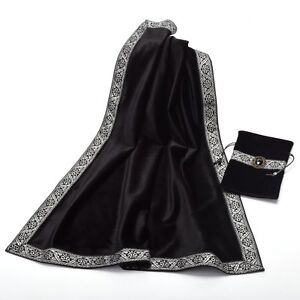 Image Is Loading Altar Tarot Table Cloth Pouch Tablecloth Black Decor