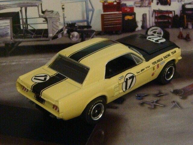 SCCA 1967 Shelby Mustang Terlingua Racing Team Jerry Jerry Jerry Titus  64 Scale Ltd N 8a17cc