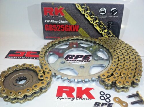 2014-2017 Yamaha FZ-09  RK GXW 525-1//+1t Gold Chain and Sprocket Kit