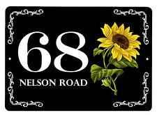 Aluminium 7x5 inch House,door name/number/road Floral Design Plaque/sign/plate