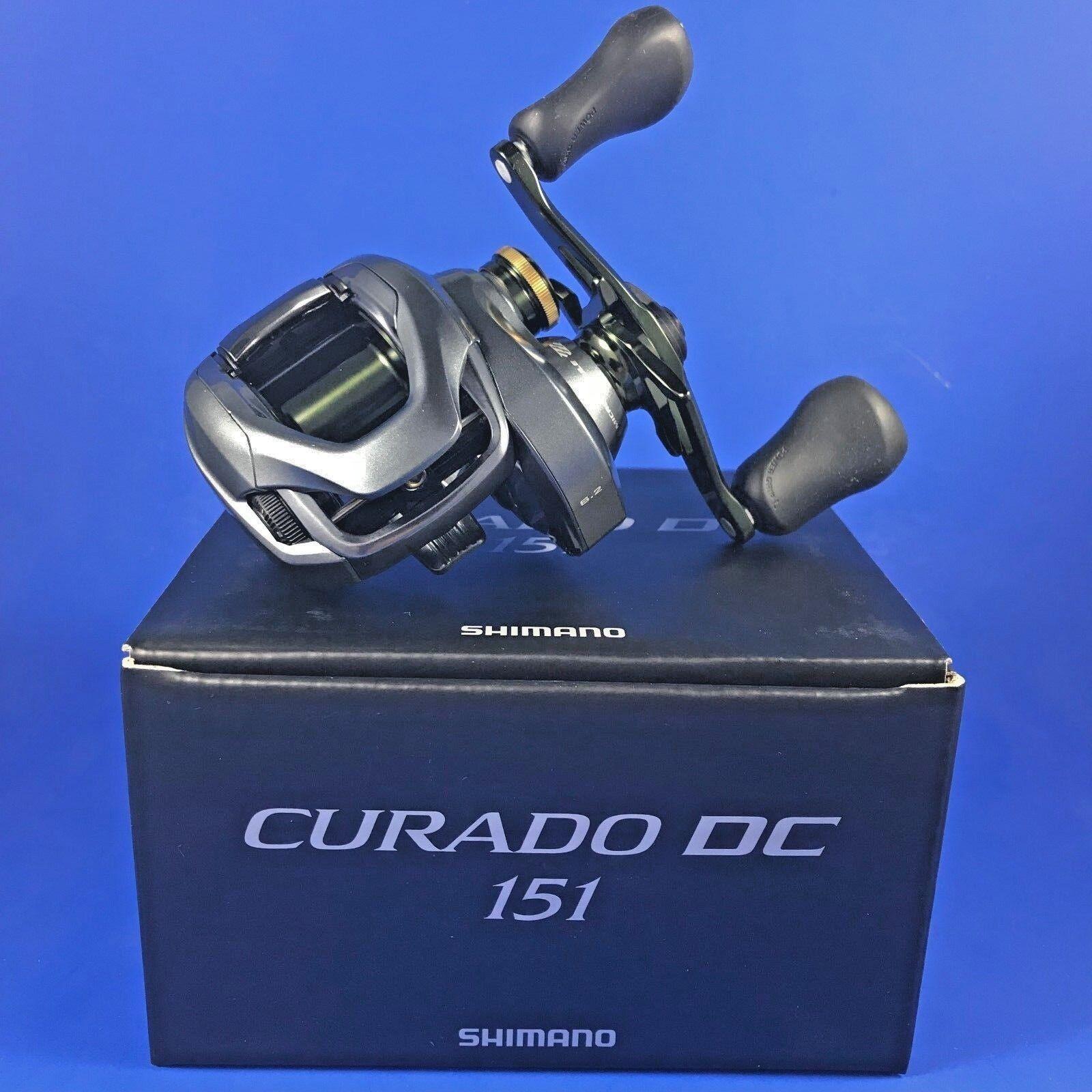 Shimano Curado DC 151 // CUDC151 Reel // Baitcasting Reel CUDC151 (Left Hand) NEW 2018 Model 40fa9c