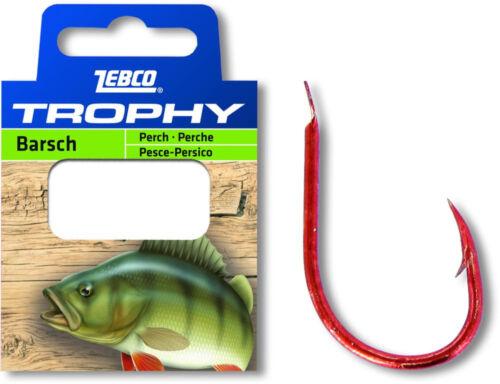 Zebco trophy perche vorfach Crochet Hameçon Crochet lié à la pêche poisson attraper