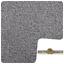 STYLISH 10mm Thick Silver Grey Felt Back Twist Pile 5m Wide Carpet £8.99m²