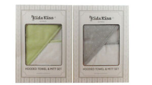Kidz-Kiss-Baby-Velour-Hooded-Towel-with-Mitt-Storage-Bag-Washcloth-Gift-Set