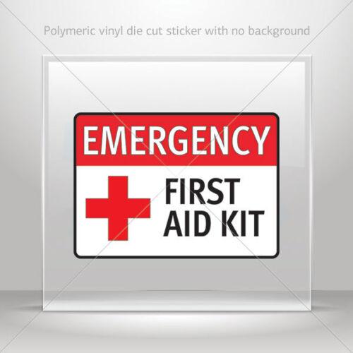 Stickers Autocollant Emergency First Aid Kit signal de sécurité S st7 8ZZW9