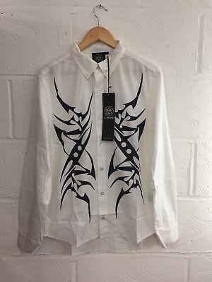 Liefern Designer Long Clothing Tribal Button Shirt White - Unisex Selfridges Boy London Ausgezeichnet Im Kisseneffekt