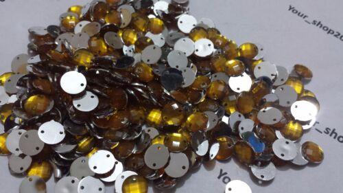 Artes Craft 50 Botones Acrílico Facetado Star 2 agujero Flatback cose en piedras preciosas