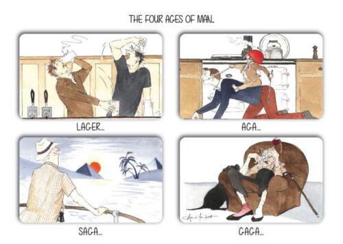 Fragilisé par doucement Vide Greetings Cards 12 Designs à Choisir