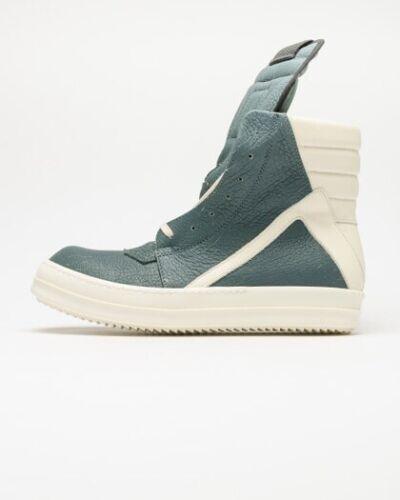 Rick Owens Teal/White Geobasket Sneakers Sz. 46/13