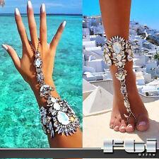 Silver Fashion Wrist Ankle Bracelet Bikini Beach Body Jewelry Vacation Summer
