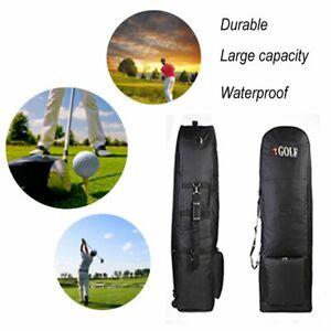 Golf-Rolling-Club-Bag-Cobra-Trolly-Trolley-Schwarz-Golftasche-Travelcover
