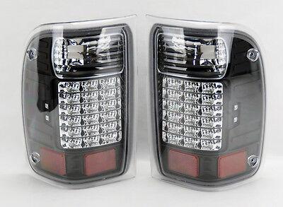 Ford Ranger Truck 1993-2000 LED Rear Tail Lights Black Pair RH LH