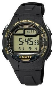 Casio Watch * W734-9AV Running 60 Lap Pacer Signal Dual Time Auto LED COD PayPal