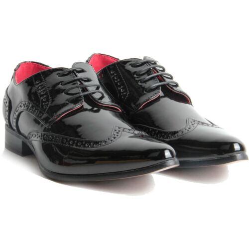 PZ2 Homme Rétro Vintage Chaussures à Lacets Richelieu à Pointed Casual Classic Shoes