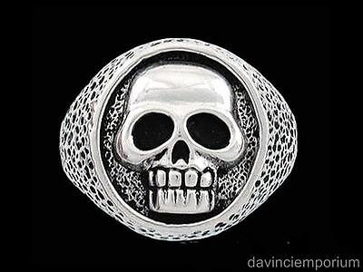 Sterling Silver Pirate Skull Signet Ring