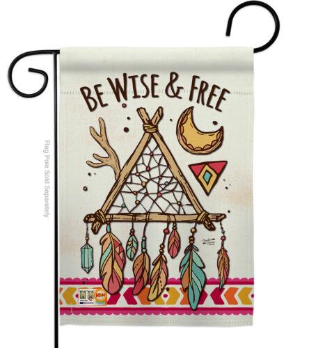 Details about  /Be Wise Free Southwest Garden Flag Dream Catcher Boho Spirit House Yard Banner