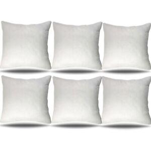 28x28 Throw Pillow Insert Set Of 6 Decorative Euro Sham Couch Cushion 28 Inch Ebay