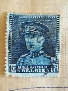 N-296-Timbre-Oblitere-avec-charniere-Belgique-Albert-1er-1931-bleu-BE