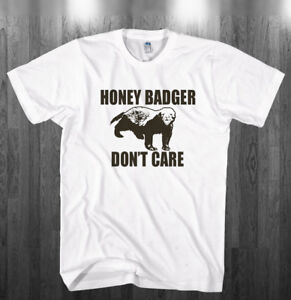 760c7a6208413 Details about Honey Badger Don't Care T-shirt Badgers dont care fan Shirts  Adult Kids sizes