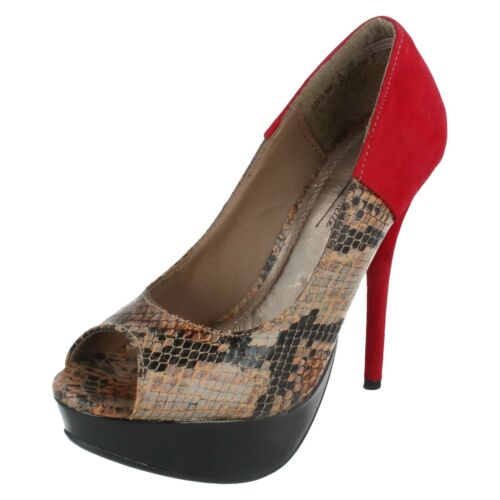 Ladies L2970  snake print peep toe court shoes by  Anne Michelle sale £ 9.99