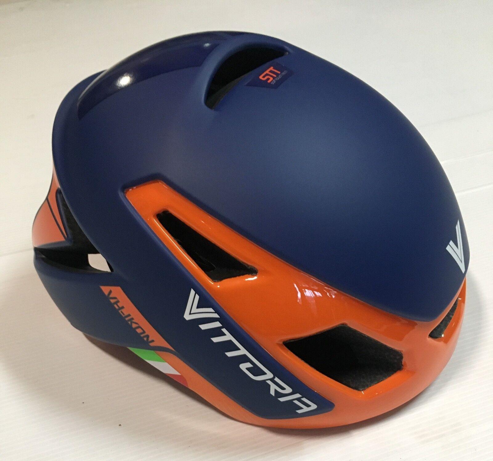 Casco bici corsa Vittoria VH Ikon Arancio  orange road bike helmet L-XL 58-62 cm  your satisfaction is our target