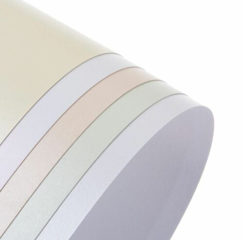 A5 précieux Pearl /& Shimmer Pearlescent Carte double face couleur Craft 300gsm