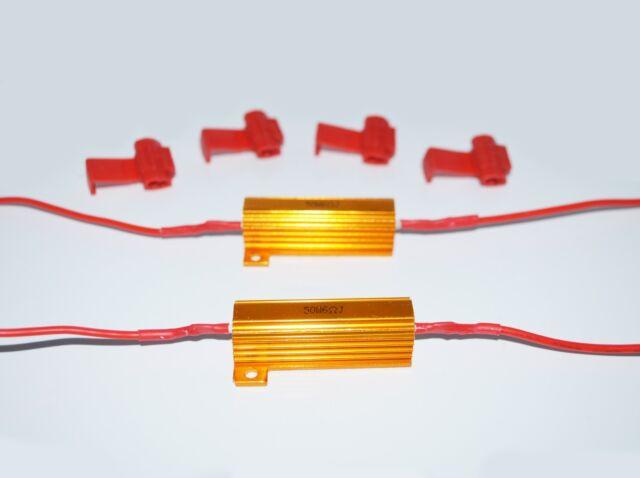 2x 50W 6 ohm Load Resistors Fix LED Bulb Hyper Flash Turn Signal Blink Blinker