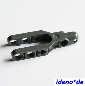 LEGO-1-pieces-TECHNIQUE-SUSPENSION-DE-ROUE-GUIDON-NEUF-gris-fonce-57515-6074651