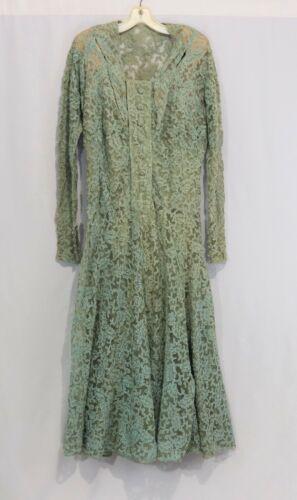 Vintage 20s 30s Lace Gown Dress