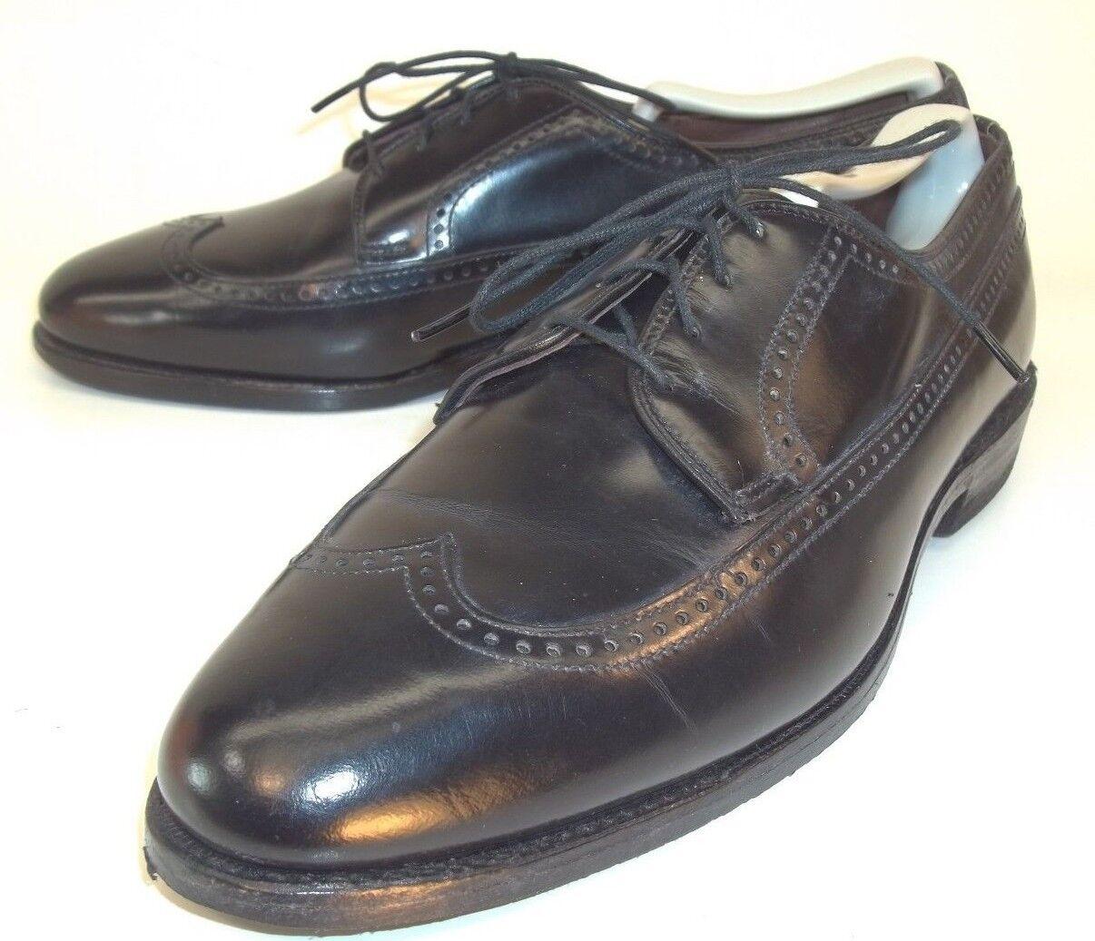 Allen Edmonds Homme Chaussures Derbies RICHMOND US 8.5 C Noir en Cuir Bout D'Aile 989