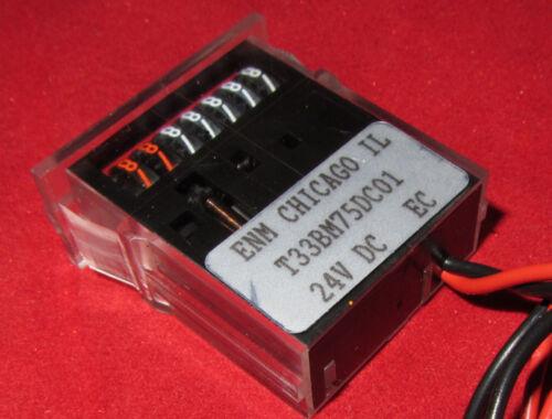 99,999 Hours 24VDC Non-Resettable T33 T33BM75DC01 ENM Running Time Meter
