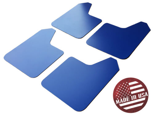 STARTER Mud Flaps Set BLUE with Custom Vinyl Logo A SR