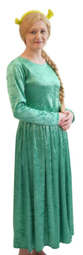 Medieval-Stage-Panto-Fancy Dress-Musical PRINCESS FIONA with EARS Ladies Sizes