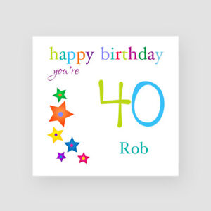 Image Is Loading Personalised Handmade 40th Birthday Card For Him Son