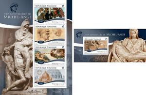 Michelangelo-Renaissance-Art-Paintings-Italy-Togo-MNH-stamp-set