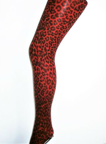 5 X COLOURS NEW LEOPARD ANIMAL PRINT OPAQUE FASHION Tights ONE SIZE 8-14 UK