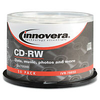 Innovera Cd-rw Discs Rewritable 700mb/80min 12x Spindle Silver 50/pack 78850 on sale