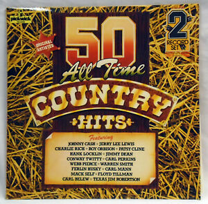Country-Hits-50-All-Time-Double-LP-50DA300-Original-Artists
