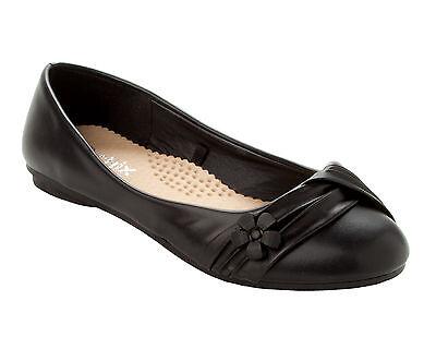 Oficina de Trabajo Inteligente Negro De Mujer Planos Ballet Dolly Zapatos de salón señoras UK Size 3-8