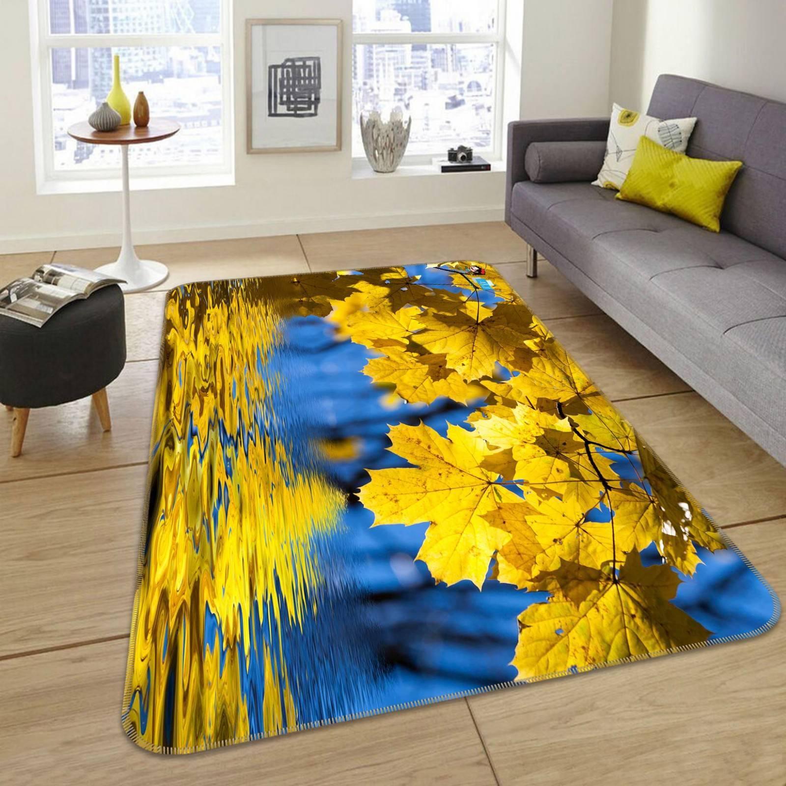3D giallo Leaves 3020 Non Slip Rug Mat Room Mat Quality Elegant Photo Carpet AU