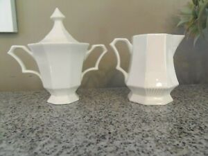 NIKKO-Classic-Collection-White-Sugar-Lid-amp-Creamer-JAPAN-Excellent-Condition