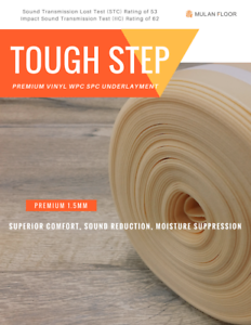 Wpc Test premium underlayment for floating vinyl wpc spc flooring sound test