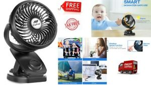 PORTABLE-MINI-FAN-CLIP-ON-FOR-BABY-STROLLER-USB-Rechargeable-Battery-Operated
