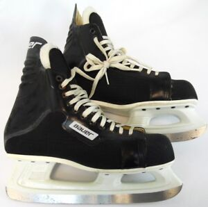 Vintage-Bauer-Black-Adult-Comp-Canada-ICM-Professional-Hockey-Ice-Skates-10-D