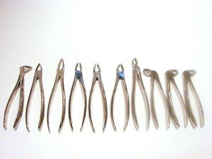 10-Forceps-d-039-extraction-INSTRUMENT-DENTAIRE-Set-marquage-CE-CHIRURGIE-DENTISTE